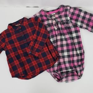 Lot of 2 Tops Girls size 12 month